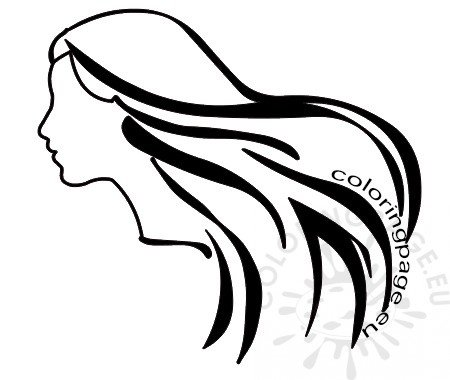 woman profile clipart