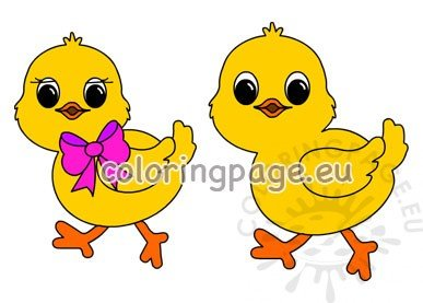 Easter chicks Easter clipart