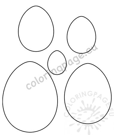 photograph regarding Easter Egg Template Printable referred to as Easter egg templates printable Coloring Web site