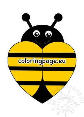 yellow heart bee