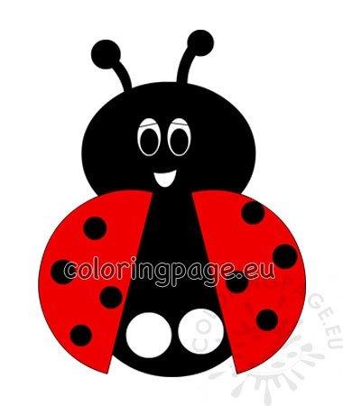 Little Ladybug Paper Finger Puppet Coloring Page