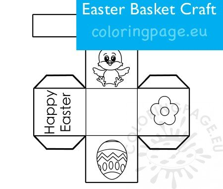 Easy Easter Basket Activity Printable Coloring Page