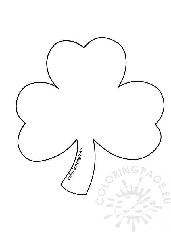 photo about Printable Shamrock titled Shamrock coloring web page printable Coloring Web site