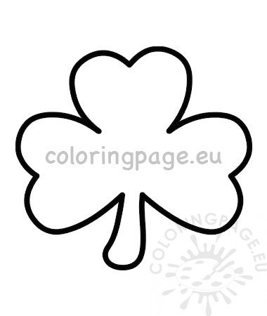 image relating to Shamrock Stencil Printable called St Patricks Working day Shamrock template printable Coloring Webpage