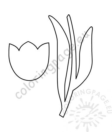 picture about Tulip Pattern Printable titled Printable tulip flower Tulip with stem template Coloring Website page