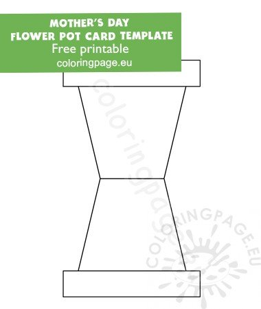 picture about Flower Pot Template Printable known as Flower Pot Card Template Printable - Floss Papers