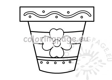 image regarding Flower Pot Template Printable named Ornamental flower pot template printable Coloring Webpage