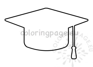 image regarding Printable Graduation Cap Pattern identified as Commencement cap cutout template Coloring Webpage