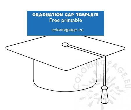 photograph regarding Graduation Cap Template Free Printable identify Cost-free template commencement cap Coloring Web page