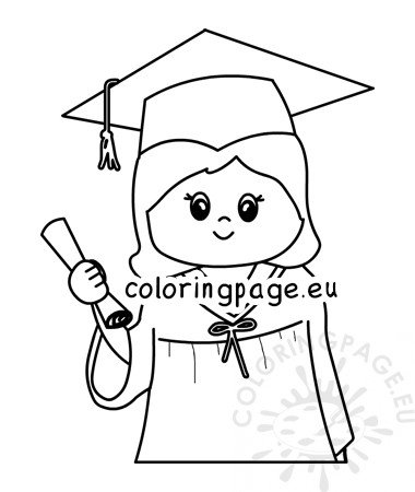 Graduation day coloring page