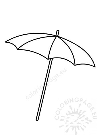 Beach Umbrella Summer Template Coloring Page