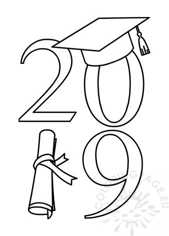 Class Of 2019 Vertical Graduation Coloring Page