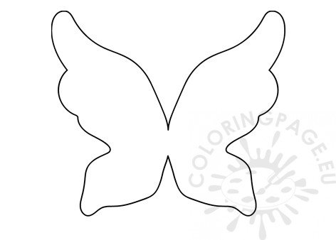 Fairy Wings paper pattern printable - Coloring Page