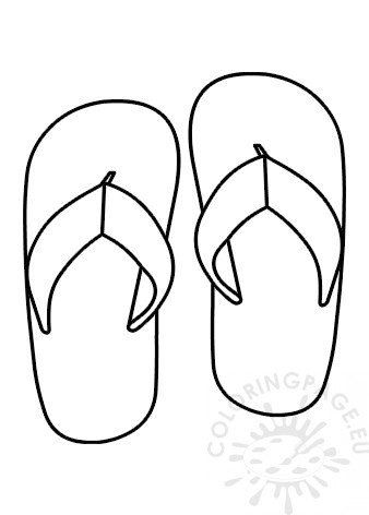 image relating to Flip Flop Printable identified as Printable Transform Flop Template Coloring Web page