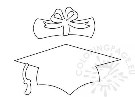 This is an image of Ridiculous Graduation Cap Template Printable