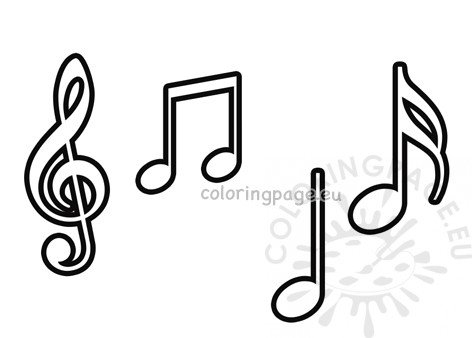picture regarding Printable Music Notes Symbols known as Musical notes symbols template Coloring Webpage