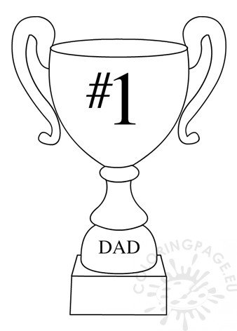 picture relating to Printable Trophy referred to as Quantity 1 Father Trophy printable Coloring Webpage