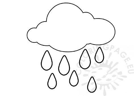 Rain Cloud Preschool Weather Coloring Page