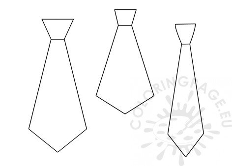 photograph about Printable Tie Template referred to as Tie Template printable Coloring Web site