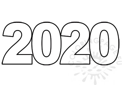2020 number coloring sheets for