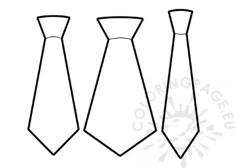 picture about Free Printable Tie Template referred to as No cost printable Tie Template Coloring Site