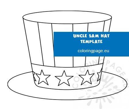 Free Uncle Sam Patriotic Hat Template