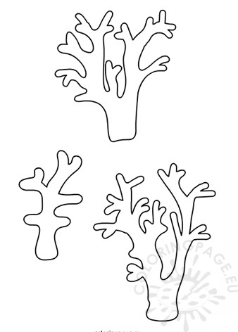 Printable Coral template Coloring