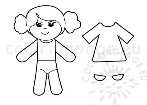 Paper Doll Templates – coloring.rocks!   338x472