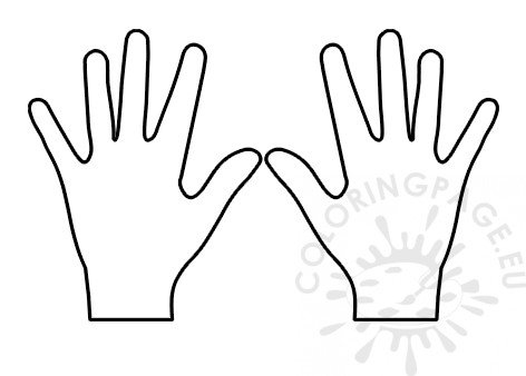 Hands template - Coloring Page