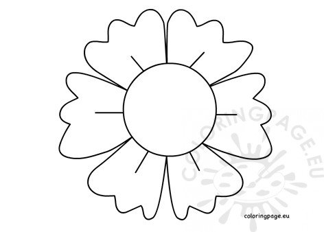 graphic about Flower Outline Printable referred to as Massive flower define printable Coloring Webpage
