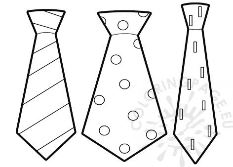 graphic relating to Printable Tie Template known as Tie Template Printable PDF Coloring Webpage