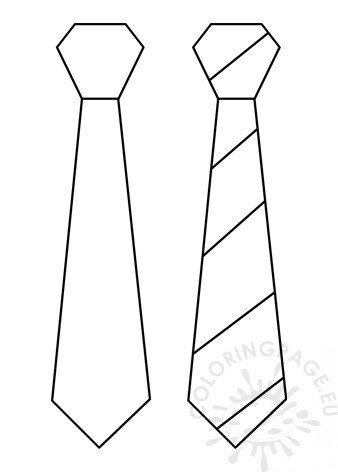 picture regarding Father's Day Tie Template Printable called Tie Template PDF printable Coloring Website page