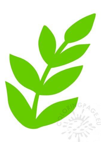 image regarding Leaves Printable named Environmentally friendly paper leaves printable Coloring Web site