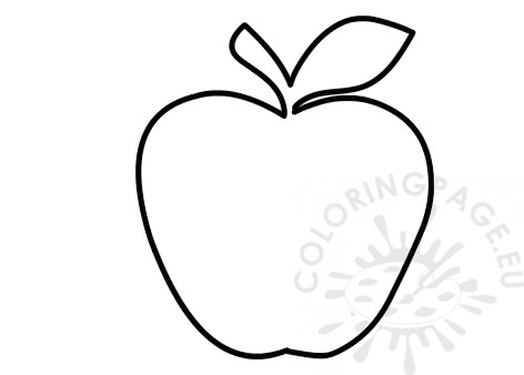 image regarding Apple Stencil Printable identified as Printable Apple determine form Coloring Site