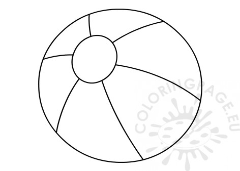 Beach Ball Template Printable Coloring Page