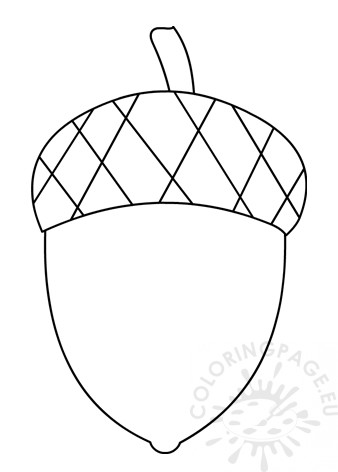 Acorn template free printable - Coloring Page