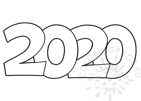 New year 2020 coloring page - Coloring Page