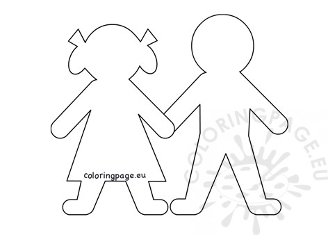 image relating to Printable Paper Doll Templates identified as Printable Paper Doll Templates Coloring Webpage