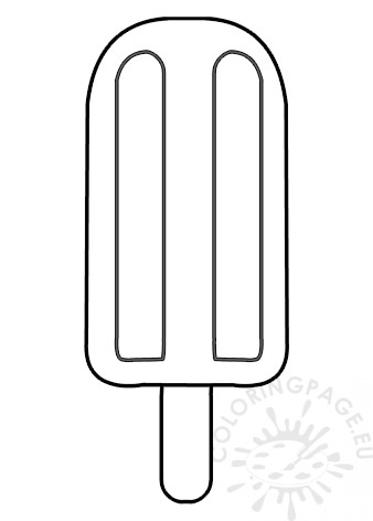 Popsicle With Wooden Stick Template Coloring Page