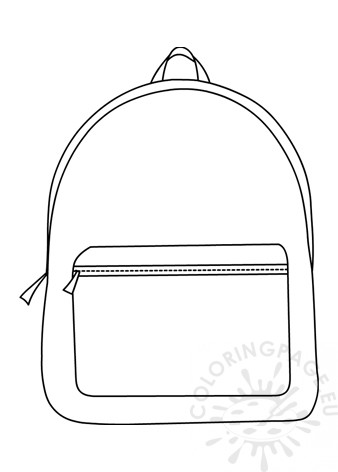 Simple Design Backpack Coloring Page
