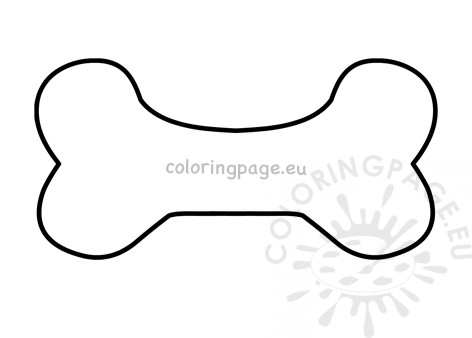 Dog Bone Template Coloring Page