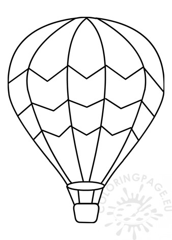 Hot Air Balloon Template Coloring Page