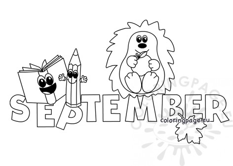 Printable September month - Coloring Page