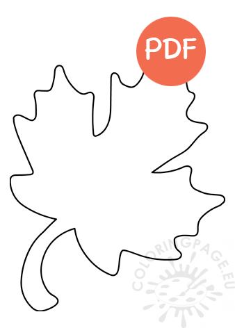 Large Maple Leaf Template Coloring Page
