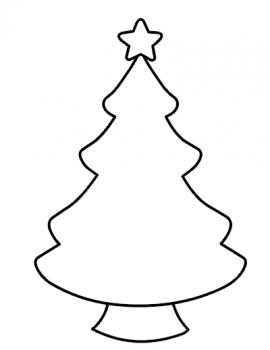 christmas tree template free printable  coloring page