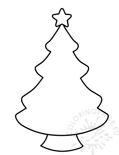 christmas tree template free printable coloring page coloring page