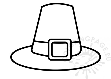 image about Pilgrim Hat Template Printable referred to as Colonial Pilgrim Hat template Coloring Site
