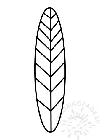 This is a picture of Turkey Feather Printable with regard to outline