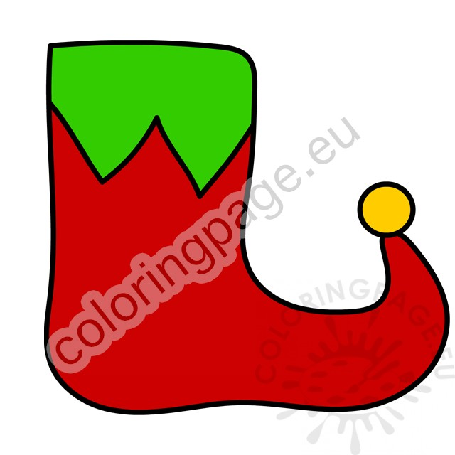 It's just a graphic of Elf Shoe Pattern Printable intended for old shoe