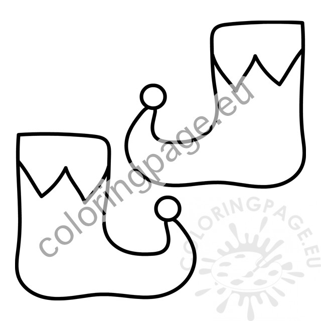 Elf shoes coloring page – Coloring Page
